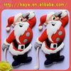 2014 Santa Claus rubber soft pvc fridge magnet sticker