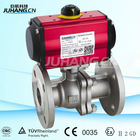 JH High quality pneumatic actuator with high platform flanged ball valve