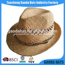 Custom wide brim farmers straw hat