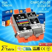 For Canon CLI-36 PGI-35 PGI Ink Cartridge CLI-36 PGI-35 Compatible Ink Cartridge With CE SGS ISO Certificates