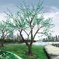 Künstliche führte kirsche blume baum, hohe simulation grünen gefälschte kunststoff blume pflanze für outdoor-park dekoration