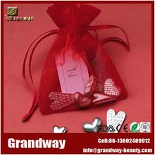 Factory supplier popular design cheap custom organza bag, organza drawstring bag