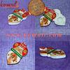 Marble Religious Ganesh Swastik Puja Thali Tray Kumkum Holder - Hand Painted Marble Tray