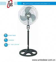 16inch 18inch,stand fan,hight speed,japanese bamboo folding fan stand whth powerful motor