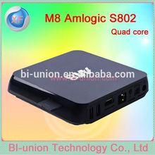 xbmc android tv box s82 quad core 4k android tv box m8