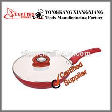 Aluminium Ceramic Red Wok