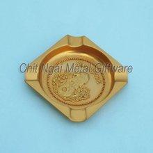 Square metal ashtray