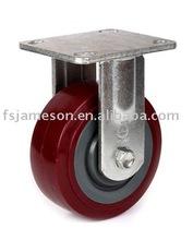 "4""5""6"" heavy duty red polyurethane/pvc wheel caster"