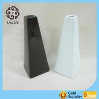 black and white ceramic vase