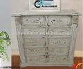 branco afligido gavetas artesanais shabby chic móveisdemadeira