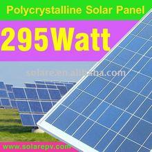 High power polycrystalline PV solar panel 295W