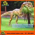 Jurassic sized Animatronic robô animais no parque Dilophosaurus