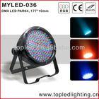 indoor plastic led par 64 light, stage light