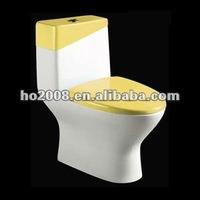 bathroom Toilet Ceramic Siphon One piece toilet HO-8066-2