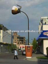 decorative single arm street lighting pole,decoration,concrete street light poles