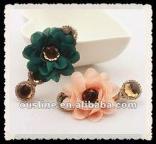 elegant fancy chiffon decorative flower hair clip