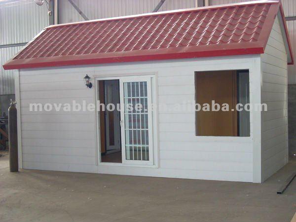 Casas 3 x 6 m de eps sandwich panel con techo con red corrugado teja de techo - Casas de panel sandwich ...
