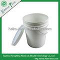 5 galão plástico transparente balde balde com alça e tampa