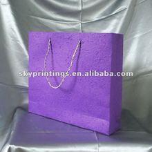 purple elegant paper shopping bag