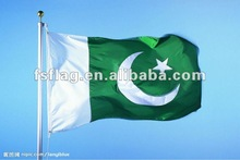 Pakistan national flagexcellent and cheap table size polyester Pakistan National Flag