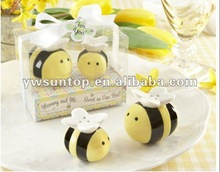 Newest Mommy and Me Sweet as Can Bee Ceramic Salt And Pepper Shakers Wedding Crafts