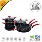 FDA & LFGB Pressed 10 pcs Aluminum Non-Stick Cookware Set/Enamel Cookware Set/China Cookware Set