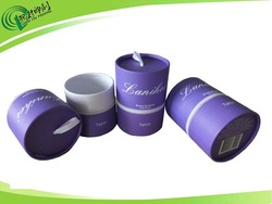 Luxury round paper candle box wholesale candle packaging boxes with ribbon