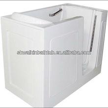 Square walk in bathtub elder bath tub with inward opening door CWT2852A