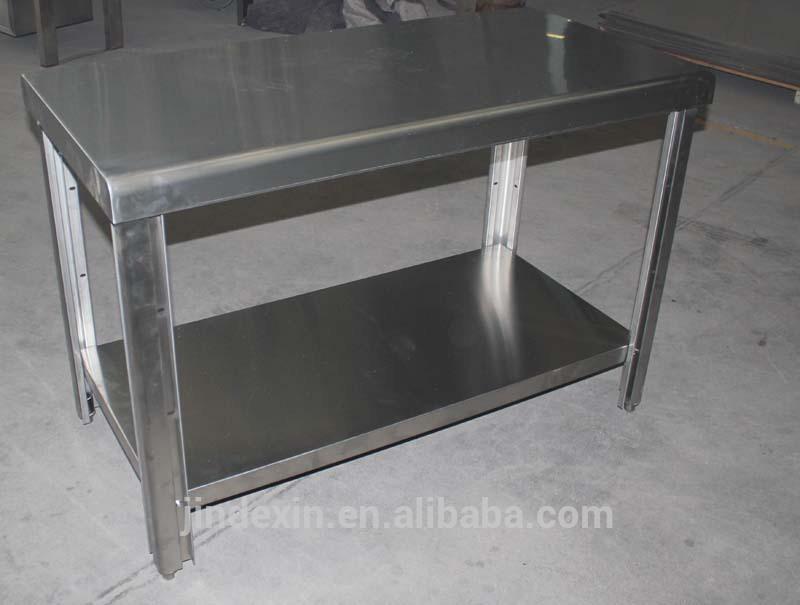 ... tavolo da cucina in acciaio inox, piano di lavoro, tavolo di lavoro