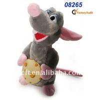 08265 plush mouse toy Animals,Anime Mouse toys,holding cake