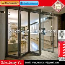 Double glazed aluminium interior glass bifold door