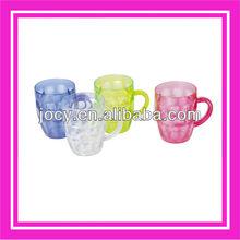 plastic transparent mug and plastic mug and beer mug