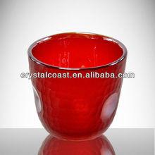 candle holder tea lights insert; red glass hurricane candle holders;frosted glass votive candle holder