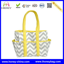 Gray and White Chevron Mummy Bag Extra Large chevron baby mommy bag