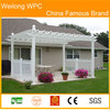 Pest-resistant home garden waterproof pergola engineering construction cheap price china supplier outdoor furniture WPC Pergola