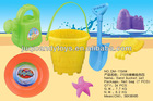 HOT-SELLING SAND BUCKET SET KIDS PLASTIC BEACH TOY (7 PCS)