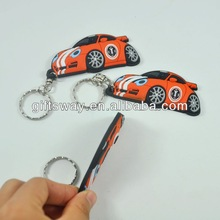 New arrived eco-friendly-3D pvc sexy car shape pvc keyring / pvc keychain for decoration
