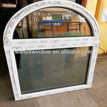foshan wanjia factory upvc arch shaped windows