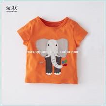 100% cotton baby boy t-shirt big animal applique t-shirt