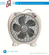 "8inch/10inch/12inch box fan turbo fan 16"" box fan with 360 oscillation"