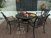 Durable cast aluminum table&chairs,cast aluminum patio set