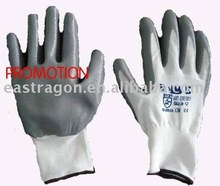 13G Nylon Gray Nitrile Coated Gloves