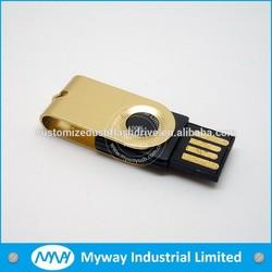 Bulk items Swivel usb flash drive in custom color , usb pendrive / 1GB swivel thumb drive