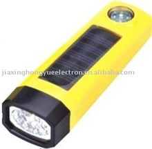 plastic Solar Torch/solar flashlight/solar lamp