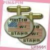 customized oval zinc alloy gold plating enamel logo epoxy cufflinks