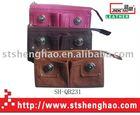 Pocket appearance distinctive idea female leather zipper wallet