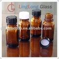 Essentialoil moldado garrafa, 10ml frasco de vidro âmbar