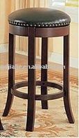 Hot!!! wood rolling bar stool ,upholstered bar stool