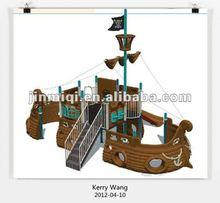 Ship outdoor playground, children pirate ship, plastic pirate ship JMQ-01402