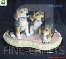 Polyresin dogs figurine souvenir statue